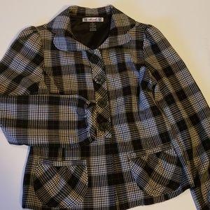 Plaid rockabilly jacket blazer